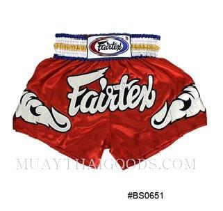 FAIRTEX MUAY THAI BOXING SHORTS RED BS0651
