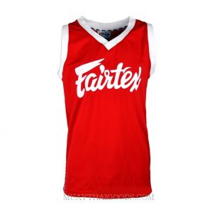 FAIRTEX TSHIRT BASKETBALL JERSEY JS5 SLEEVE LESS RED WHITE