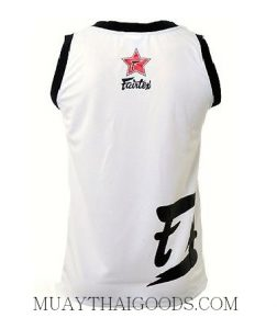 FAIRTEX TSHIRT BASKETBALL JERSEY JS6 SLEEVE LESS WHITE BLACK BACK
