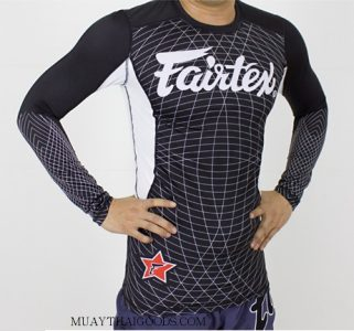Fairtex Black Long Sleeve NEW Rash Guard RG4 MMA