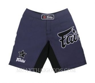 MMA SHORTS TRUNKS MADE BY FAIRTEX COLOR BLUE AB1