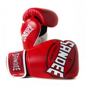 SANDEE THAILAND BOXING GLOVES COOL TEC BREATHABLE AIR FLOW RED