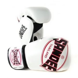 SANDEE THAILAND BOXING GLOVES COOL TEC BREATHABLE AIR WHITE