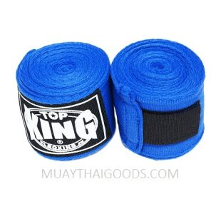 TOP KING BOXING HAND WRAPS BLUE 4 METERS