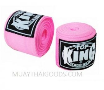 TOP KING BOXING HAND WRAPS PINK 4 METERS