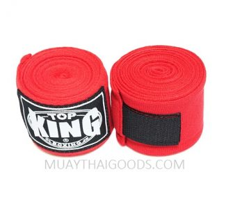 TOP KING BOXING HAND WRAPS RED 4 METERS