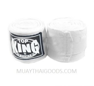 TOP KING BOXING HAND WRAPS WHITE 4 METERS