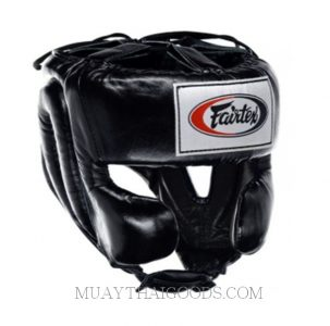 FAIRTEX HEAD GUARDS MEXICAN STYLE HG8 BLACK LEATHER