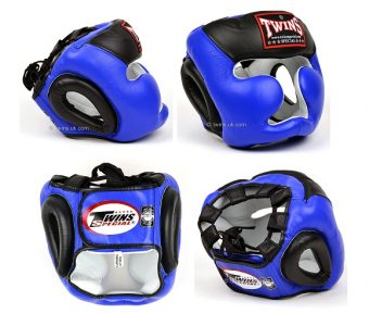 TWINS SPECIAL HEADGEAR HGL 3T BLUE BLACK DOUBLE COLOR