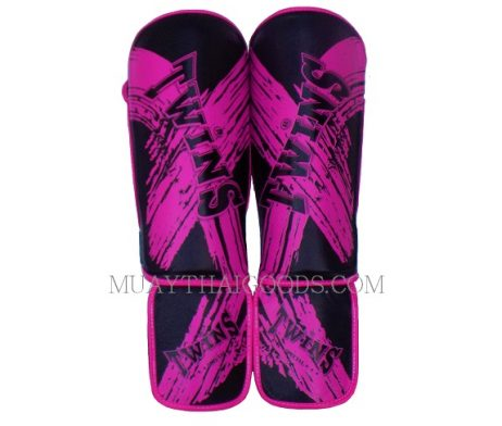TWINS SPECIAL SHIN GUARDS PADS TW3 BLACK PURPLE SGL3 TW2
