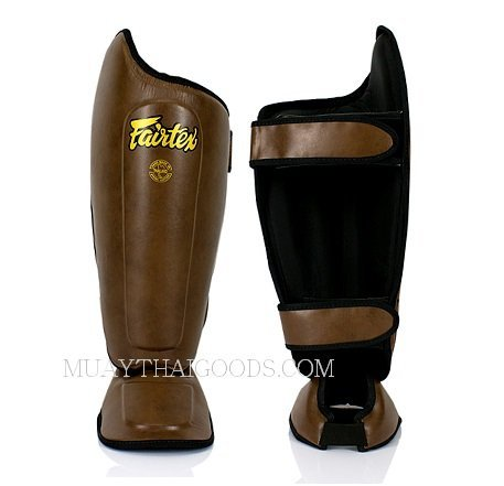 FAIRTEX SP8 BROWN SHIN PADS - GUARDS - PROTECTION