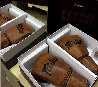 BGV15 Reborn gloves project FAIRTEX BOXING GLOVES, full grain sheet of leather is the very first sheet of leather for Reborn