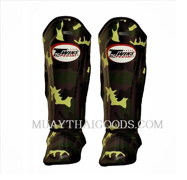 DOUBLE PADDED TWINS SPECIAL ARMY CAMO SHIN PADS SGL10