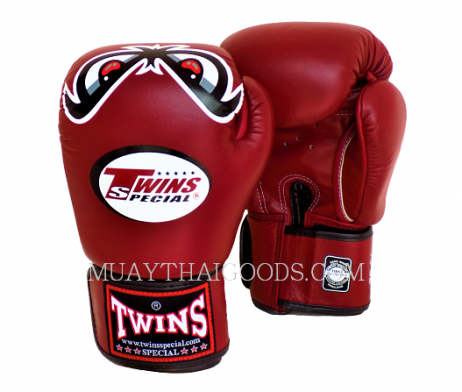 NO FEAR BURGUNDY BOXING GLOVES FBGV 25 TWINS SPECIAL