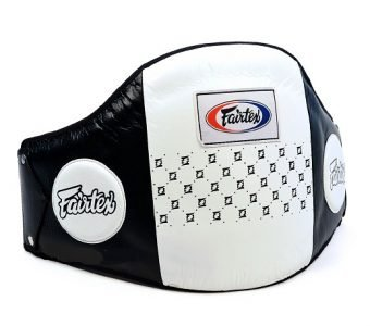 STANDARD LEATHER BELLY PAD BPV1 FAIRTEX WHITE