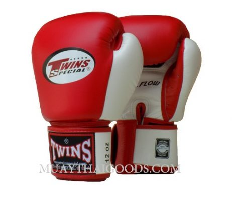 AIRFLOW BGVL3 MUAY THAI GLOVES RED WHITE TWINS SPECIAL