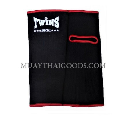 ANKLE MUAY THAI GUARDS SUPPORT BLACK RED TWINS SPECIAL