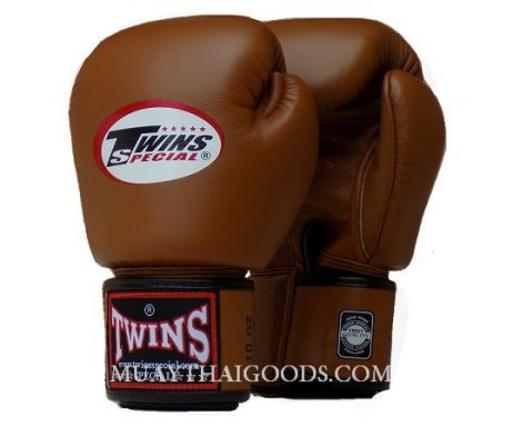 CLASSIC BROWN BGVL3 MUAY THAI GLOVES TWINS SPECIAL - MUAY THAI GOODS
