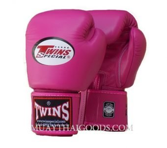 MUAY THAI KICK BOXING GLOVES BY TWINS SPECIAL DARK PINK BGVL3
