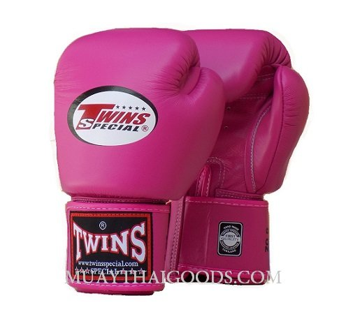 Shiv Naresh Teens Boxing Gloves 12oz: MUAY THAI KICK BOXING GLOVES BY TWINS SPECIAL DARK PINK