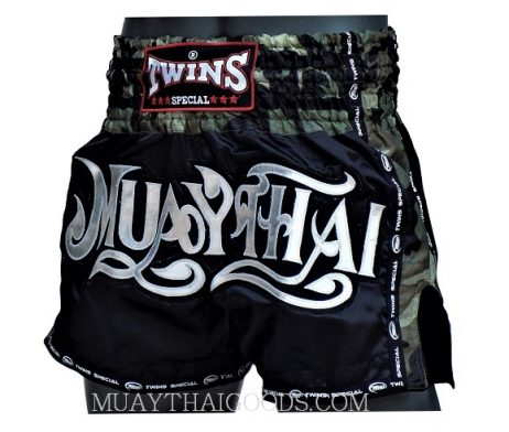 TWINS SPECIAL MUAY THAI FONT BOXING SHORTS