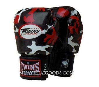 TWINS SPECIAL RED CAMOUFLAGE Boxing Gloves