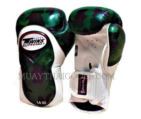 CAMO BGVL6 ARMY BOXING GLOVES TWINS SPECIAL CAMOUFLAGE WHITE