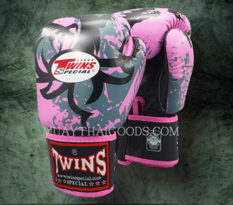 TWINS SPECIAL BOXING GLOVES TRIBAL DRAGON FBGV36 PINK