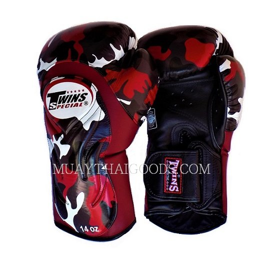Shiv Naresh Teens Boxing Gloves 12oz: CAMO BGVL6 ARMY BOXING GLOVES TWINS SPECIAL CAMOUFLAGE RED