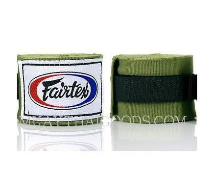 NEW FAIRTEX MUAY THAI KICK BOXING HAND WRAPS GREEN OLIVE HW2