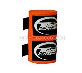NEW TWINS SPECIAL HAND WRAPS ELASTIC ORANGE CH5