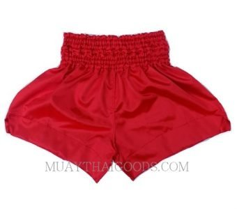 UNBRANDED QUALITY SATIN MUAY THAI BOXING SHORTS RED