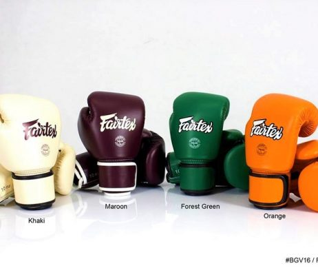 BGV16 NEW LEATHER MODEL MUAY THAI KICK BOXING GLOVES GRIP BAR FAIRTEX