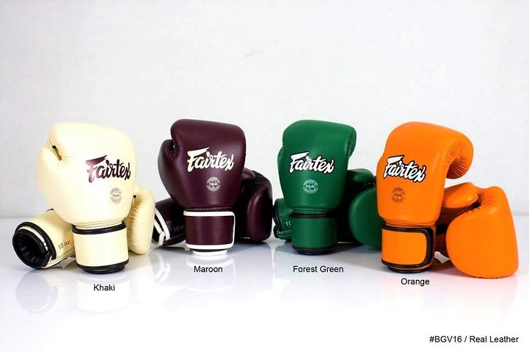 Fairtex Muay Thai Gloves - Variations of Color and Style