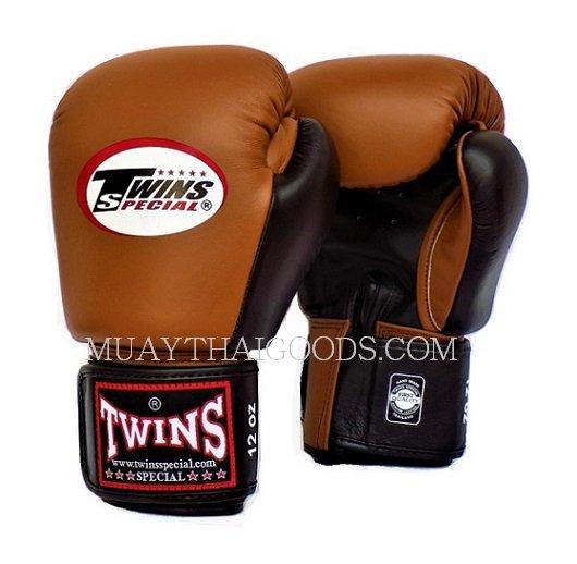 Shiv Naresh Teens Boxing Gloves 12oz: BGVL3 BROWN BLACK MUAY THAI KICK BOXING GLOVES TWINS