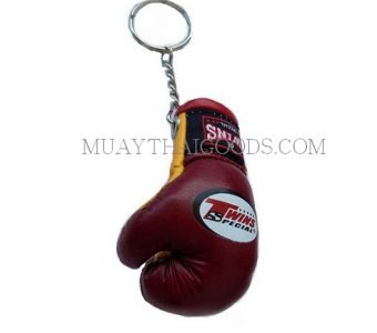BURGUNDY KEYRINGS KEYCHAINS CAR BOXING GLOVES TWINS SPECIAL