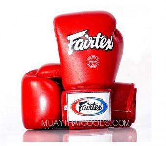 FAIRTEX BGV1 MUAY THAI BOXING GLOVES FULL RED