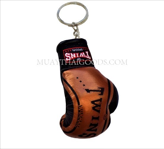 FANCY BRONZE MGB11 KEYRINGS KEYCHAIN CAR MUAY THAI KICK BOXING GLOVES TWINS  SPECIAL - Muay Thai Goods 30e639894d78