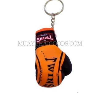 FANCY ORANGE MGB11 KEYRINGS KEYCHAIN CAR MUAY THAI KICK BOXING GLOVES TWINS SPECIAL