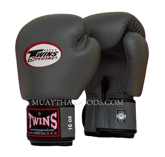 Shiv Naresh Teens Boxing Gloves 12oz: GREY TWINS SPECIAL MUAY THAI KICK BOXING GLOVES BGVL3