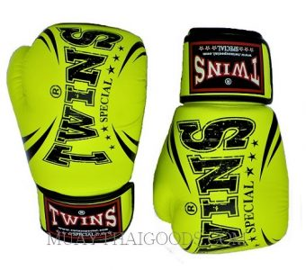 LIMITED EDITION TWINS BOXING GLOVES GREEN FLUO BGVS DM31