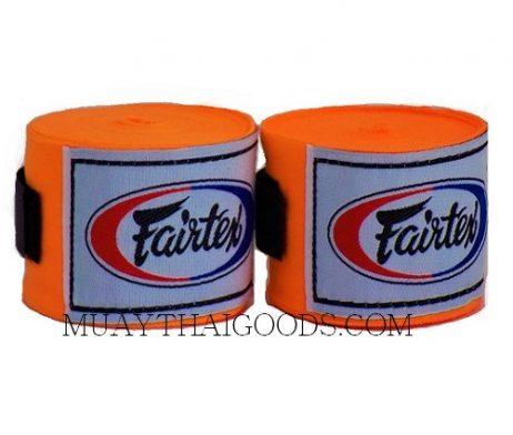 NEW FAIRTEX MUAY THAI KICK BOXING HAND WRAPS ORANGE FLUO HW2
