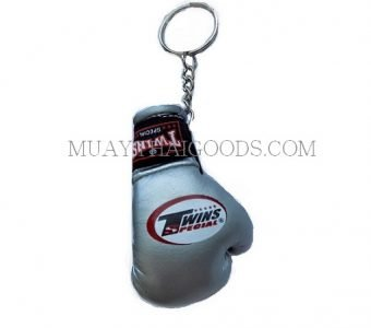 SILVER KEYRINGS KEYCHAINS CAR MUAY THAI KICK BOXING GLOVES TWINS SPECIAL