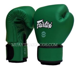 BAR GRIP FAIRTEX BGV16 MUAY THAI BOXING GLOVES FOREST GREEN