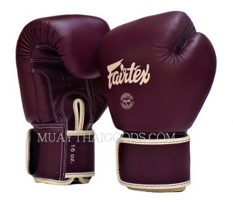 BAR GRIP FAIRTEX BGV16 MUAY THAI BOXING GLOVES MAROON