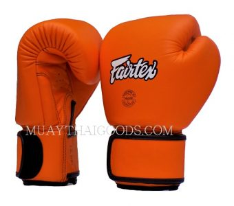 BAR GRIP FAIRTEX BGV16 MUAY THAI BOXING GLOVES ORANGE
