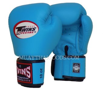 BGVL3 LIGHT BLUE MUAY THAI KICK BOXING GLOVES TWINS SPECIAL