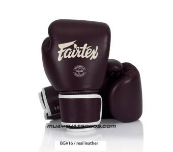FAIRTEX BGV16 MAROON MUAY THAI GLOVES