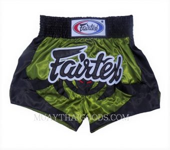 FAIRTEX MUAY THAI BOXING SHORTS BS0613 GREEN BLACK black