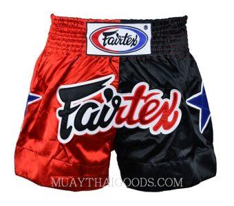 FAIRTEX MUAY THAI BOXING SHORTS BS85 RED BLACK